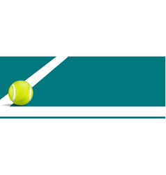 Tennis ball falling on the line vector