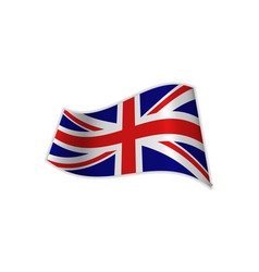 The uk flag vector