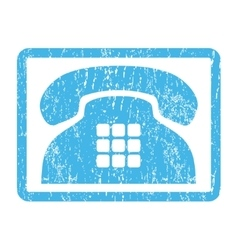 Tone Phone Icon Rubber Stamp vector