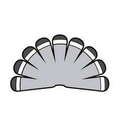 Turkey tail icon vector