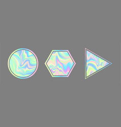 Vaporwave style holographic vector