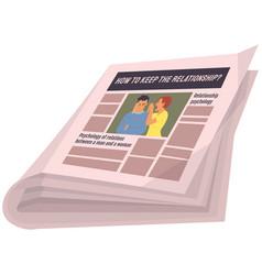 vintage newspaper relationship psychology news vector image