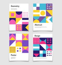 Vintage swiss graphic geometric bauhaus shapes vector