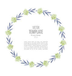 Watercolor wedding invitation design with flower vector
