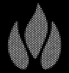 white halftone fire icon vector image