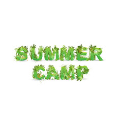 word summer camp vector image