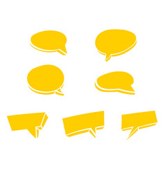 yellow speech bubble doodle vector image