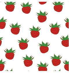 berries strawberry seamless pattern vector image vector image