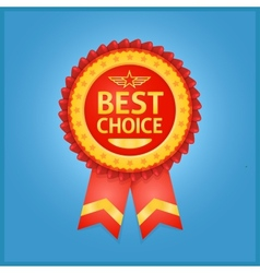 Best choice red label on blue vector image vector image
