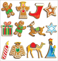 christmas cookies vector image vector image