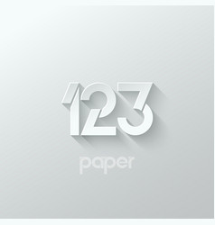 number one 1 two 2 three 3 logo paper set vector image vector image