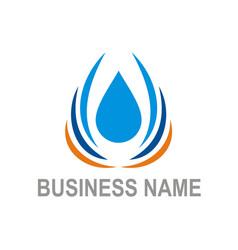 water drop bio ecology business logo vector image vector image