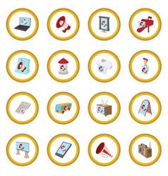 Advertisement icon circle vector