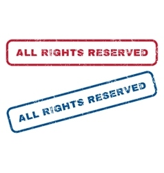 All Rights Reserved Rubber Stamps vector image vector image