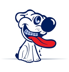 cartoon dog smile face in vector image vector image