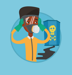 man in radiation protective suit vector image vector image
