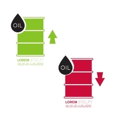 Oil barrels with indicators vector image vector image