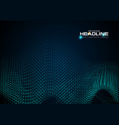 shiny abstract futuristic hi-tech dotted line vector image