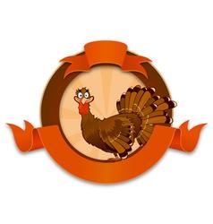 Thanksgiving Turkey Cartoon Character vector image