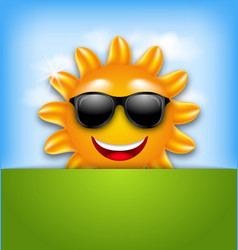 Cool Happy Summer Sun in Sunglasses vector image