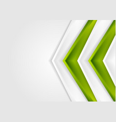 green and grey contrast tech arrows background vector image