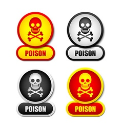 Poison icons vector