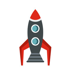 rocket icon flat style vector image