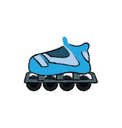 roller skate hobby sport wheel toy vector image