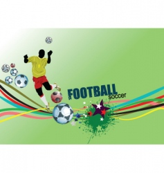 footbal poster vector image vector image