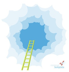 Ladder to the sky template vector image vector image