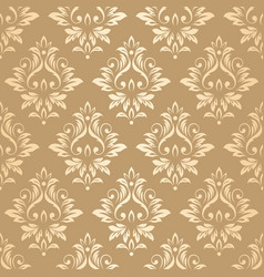 luxury golden damask wallpaper vector image vector image