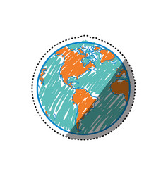 planet earth geography vector image vector image