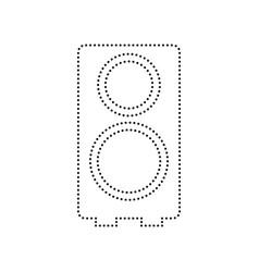 speaker sign black dotted vector image vector image