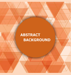 Abstract background with orange hexagon template vector