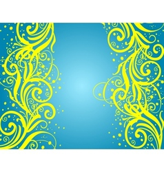 Abstract blue-yellow background vector