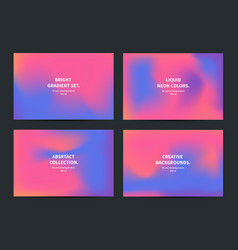 abstract gradient background collection vector image