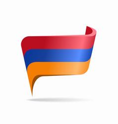 Armenian flag map pointer layout vector