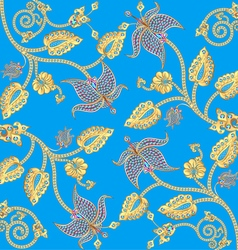 background with gold ornaments vector image