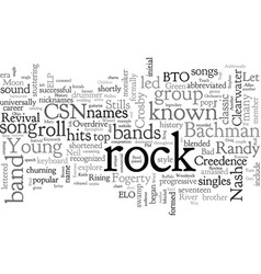 Bands known by initials vector