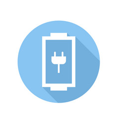 battery icon with charge level sign and symbol vector image