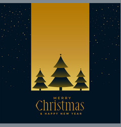 Beautiful chrismtas tree night scene background vector
