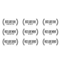 best lgbt movie film series nomiation award vector image