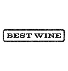 Best wine watermark stamp vector