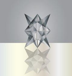 black grey crystal vector image