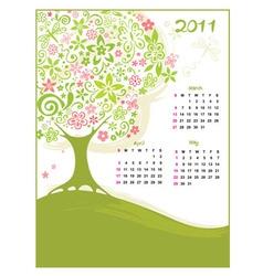 calendar spring vector image