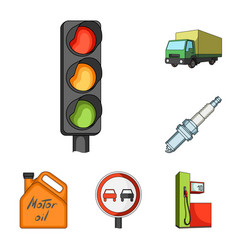 car vehicle cartoon icons in set collection for vector image