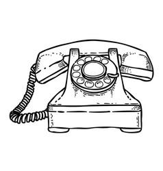Cartoon image of phone icon telephone symbol vector