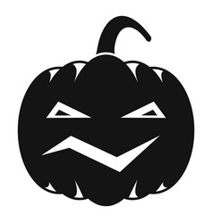 Carving pumpkin icon simple style vector