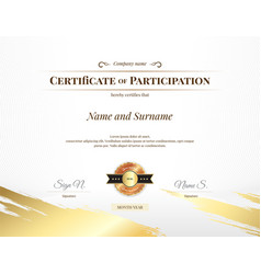Certificate template in sport theme with vector