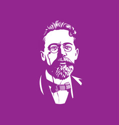 chekhov portraits famous russian historical vector image